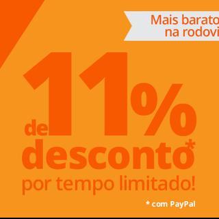 11% de desconto com o BrasilbyBus.com